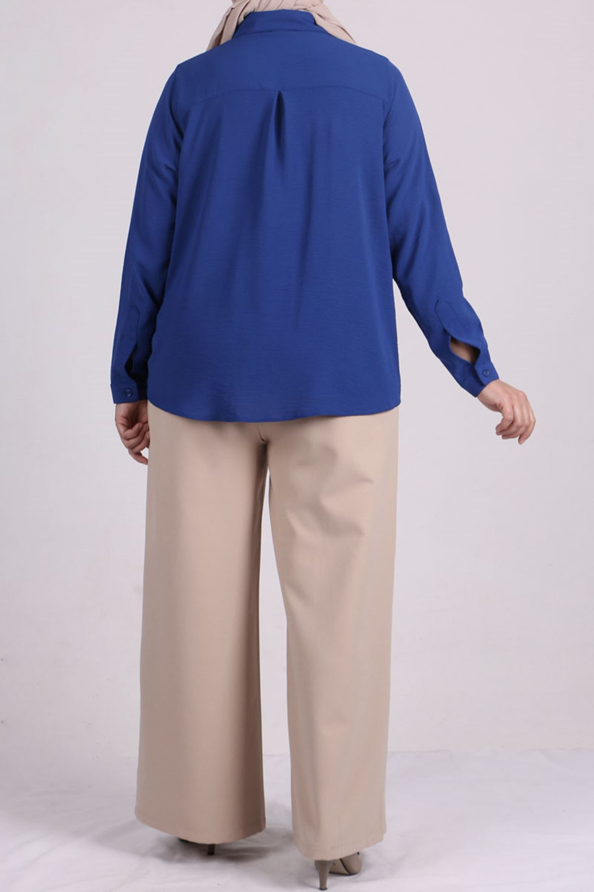 8449 Oversize Short Shirt - Saxe