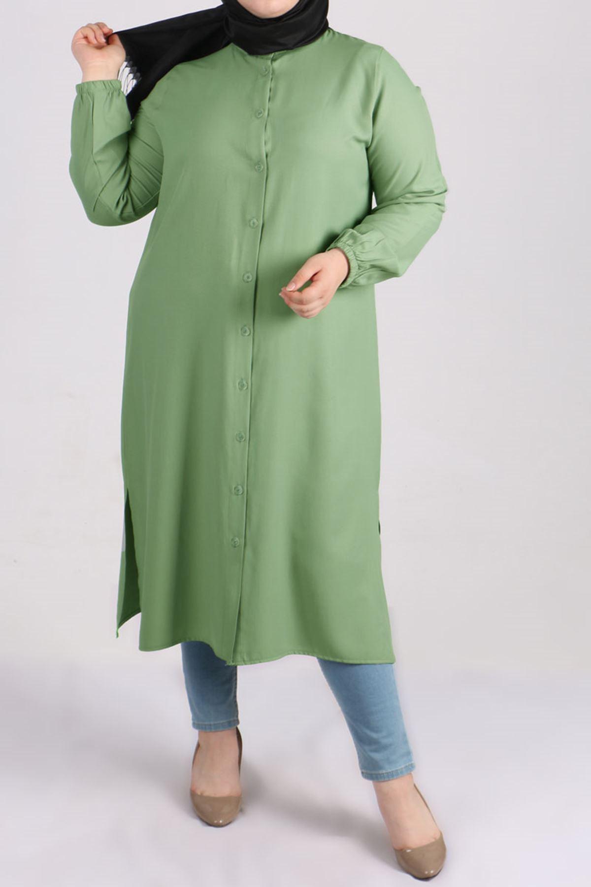8457 Oversize Tunic- Naphtha Green