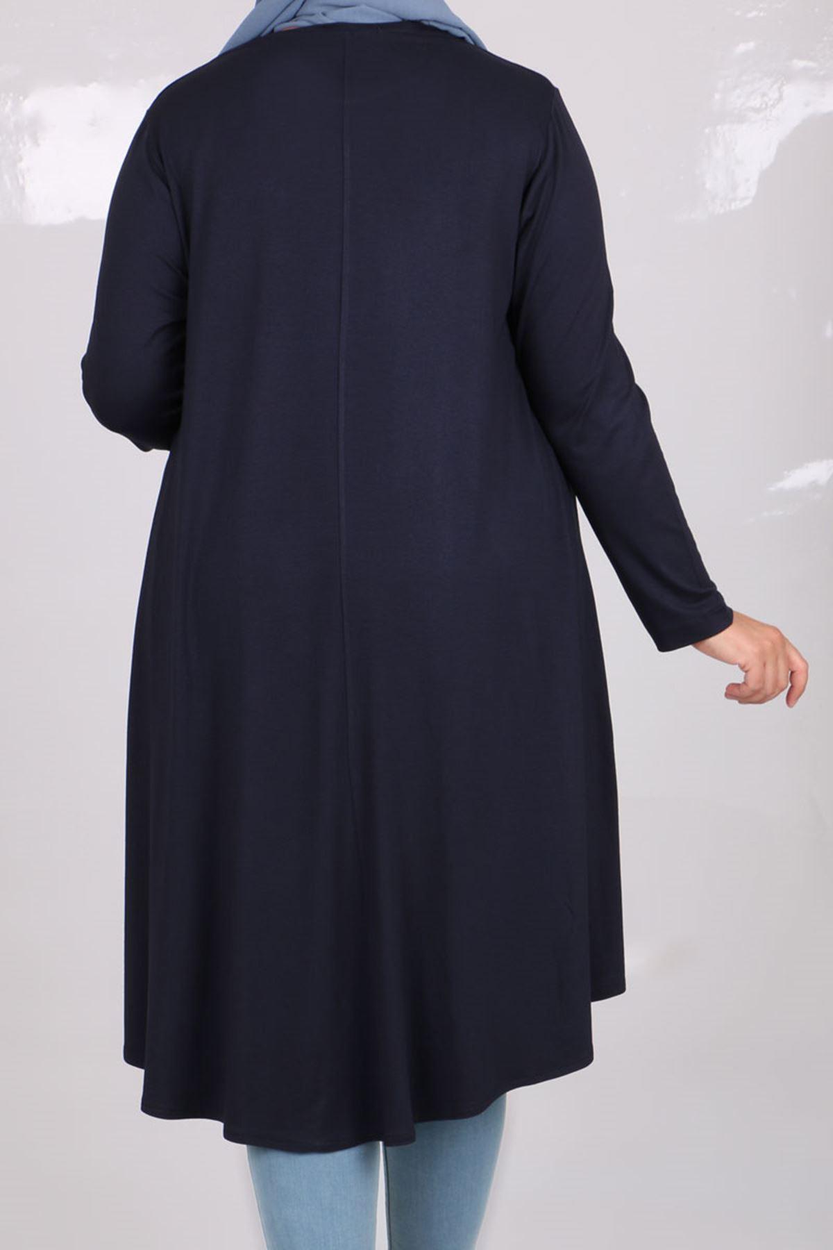 8163 Oversize Tunic- Navy blue