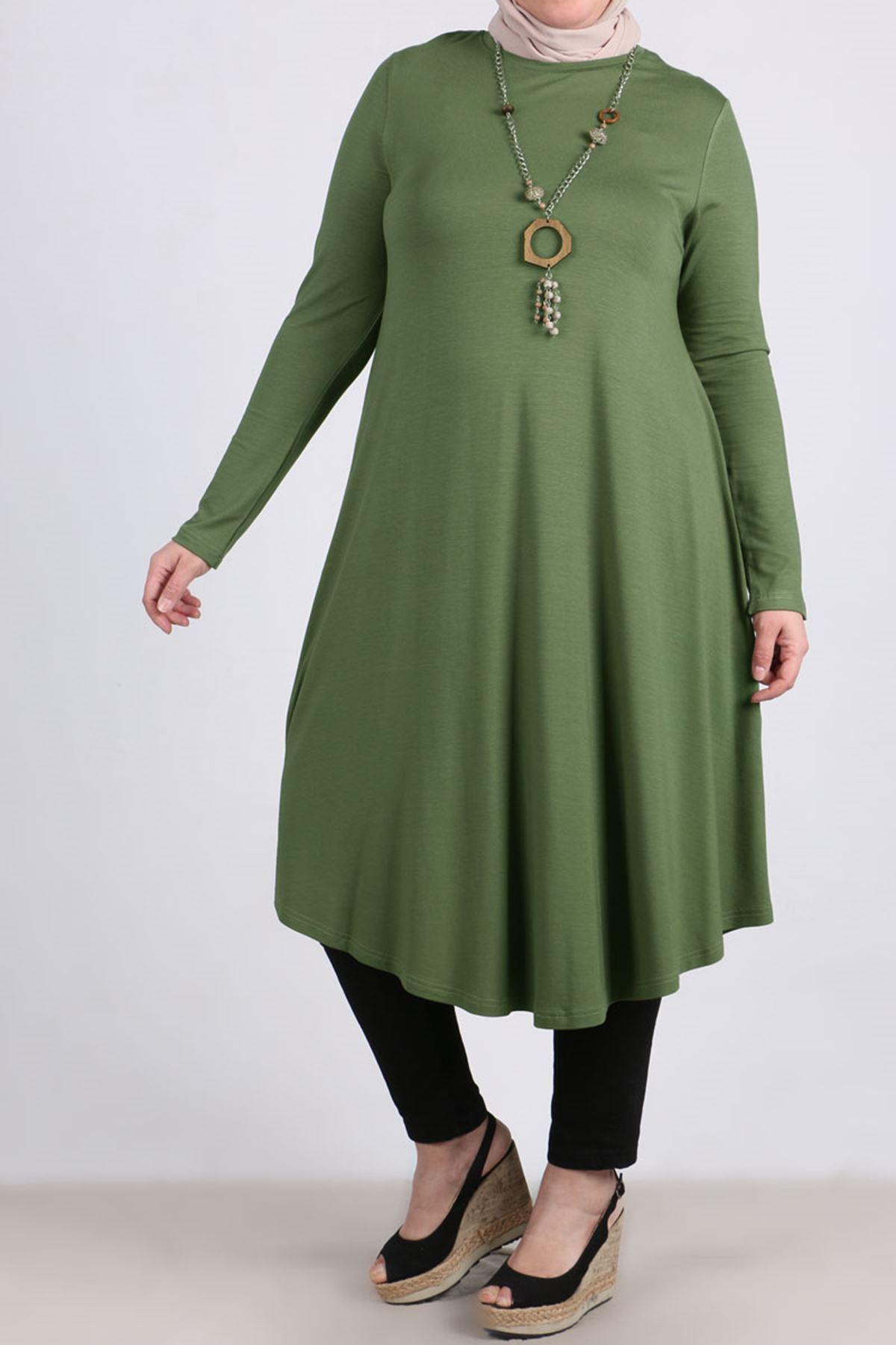 8163 Oversize Tunic-  Green
