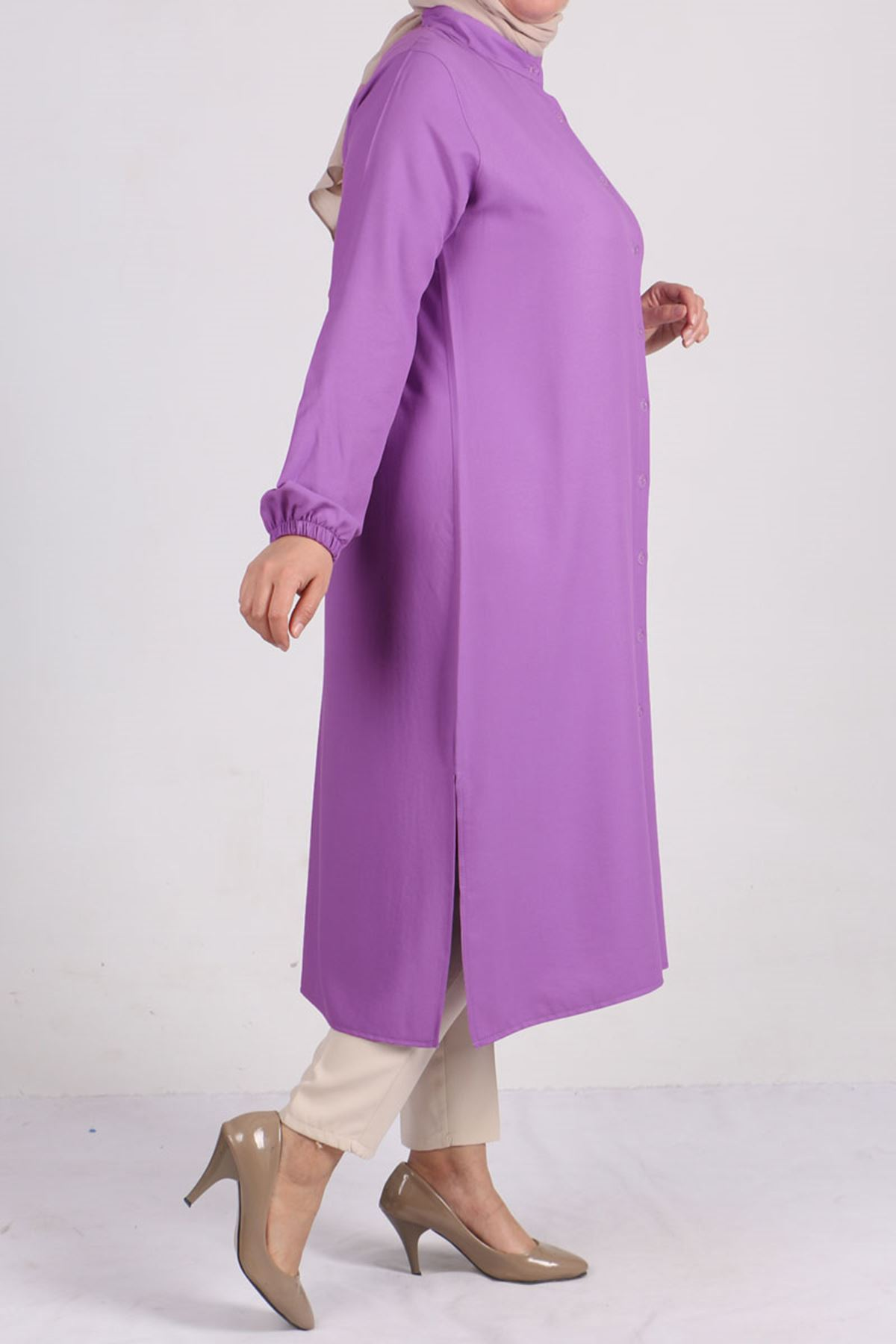 8457 Oversize Tunic- Lilac
