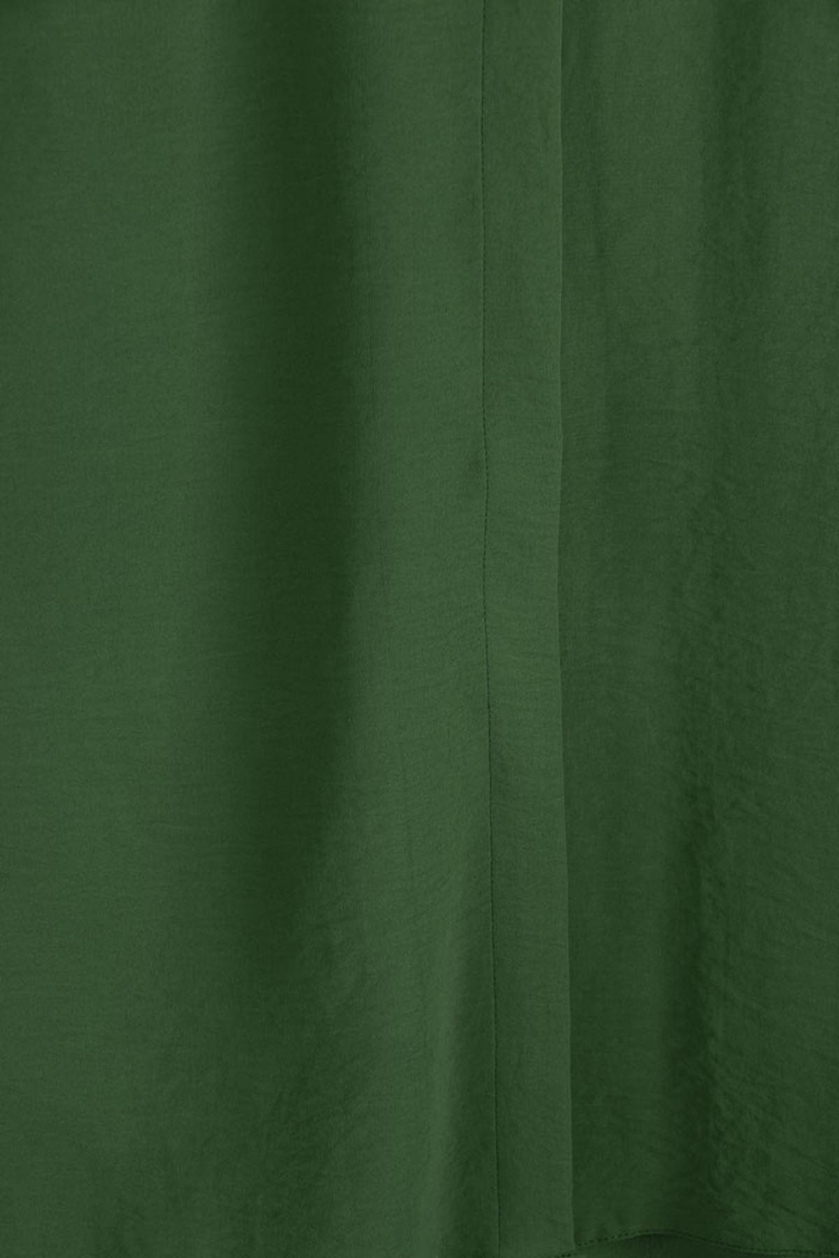 D-8225 Büyük Beden Defolu Gizli Düğmeli Airobin Mevlana Gömlek-Hakİ