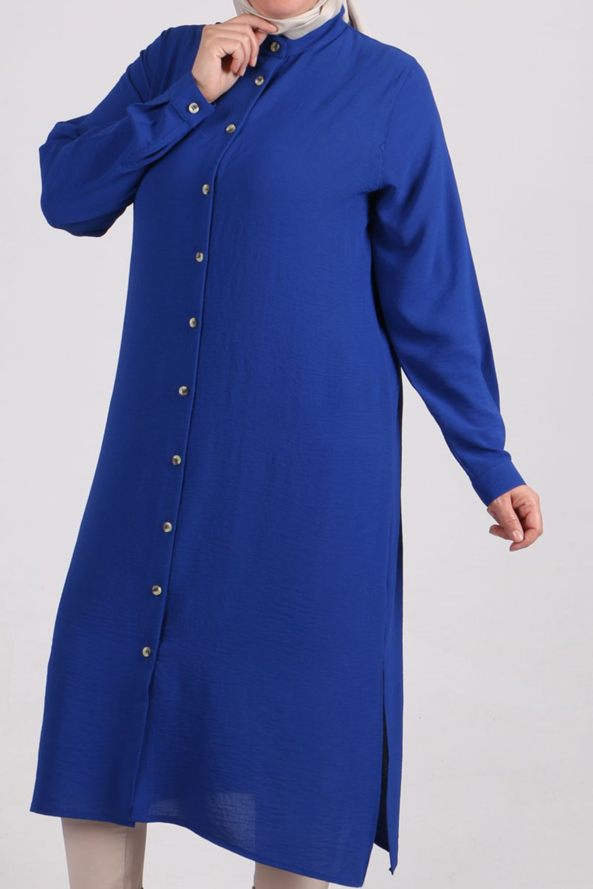 8401 Oversize Buttoned Shirt - Saxe