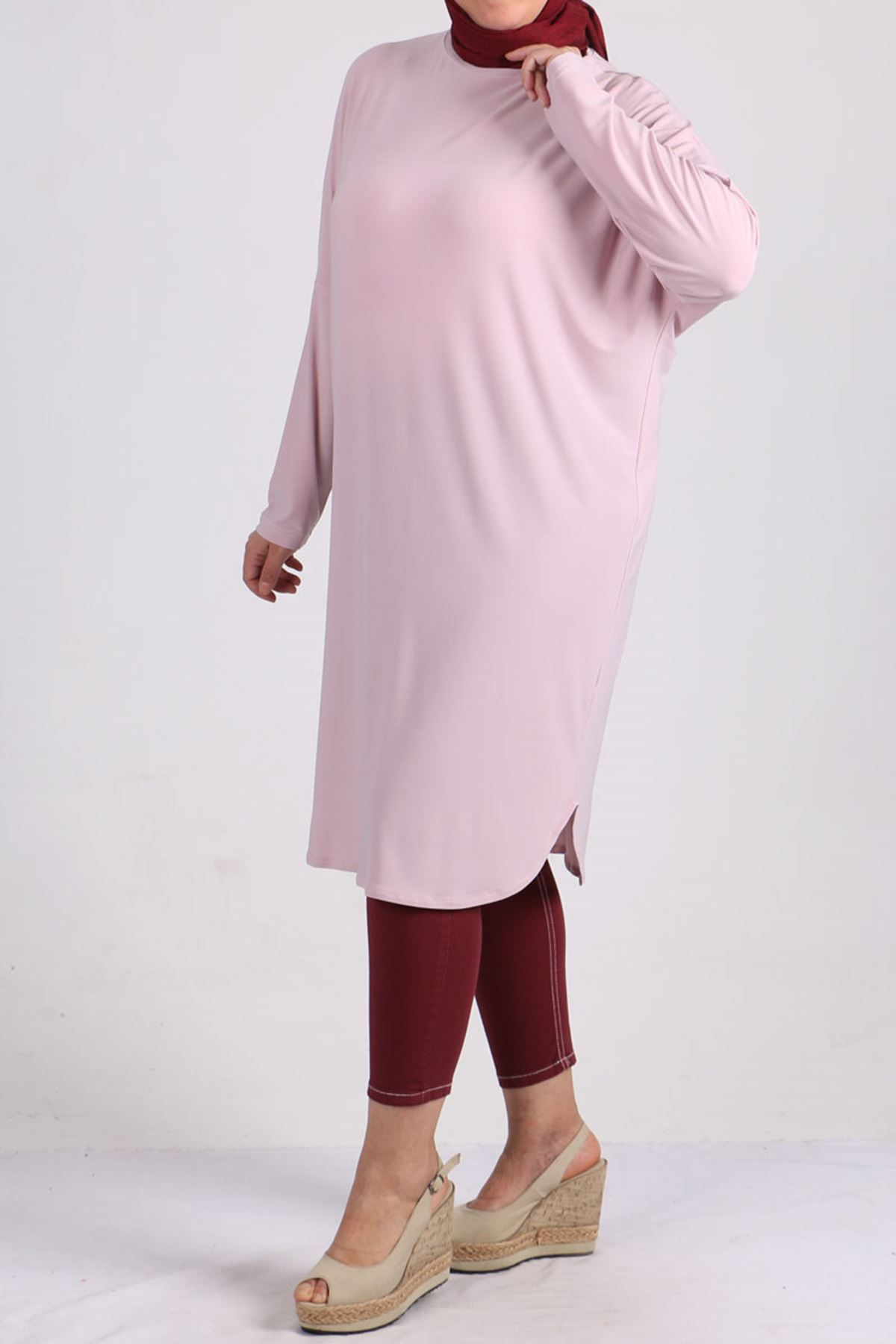 8459 Oversize with Low Sleeve Tunic - Lilac