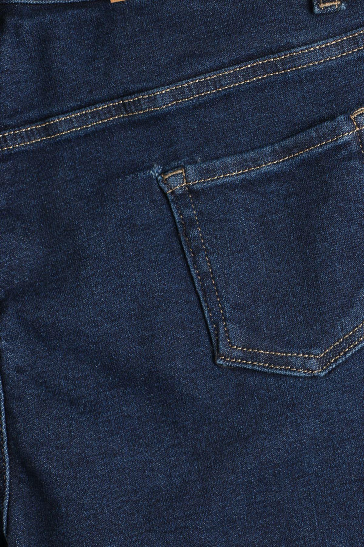 D-9125-1 Büyük Beden Defolu BoyFriend Kot Pantolon-Lacivert