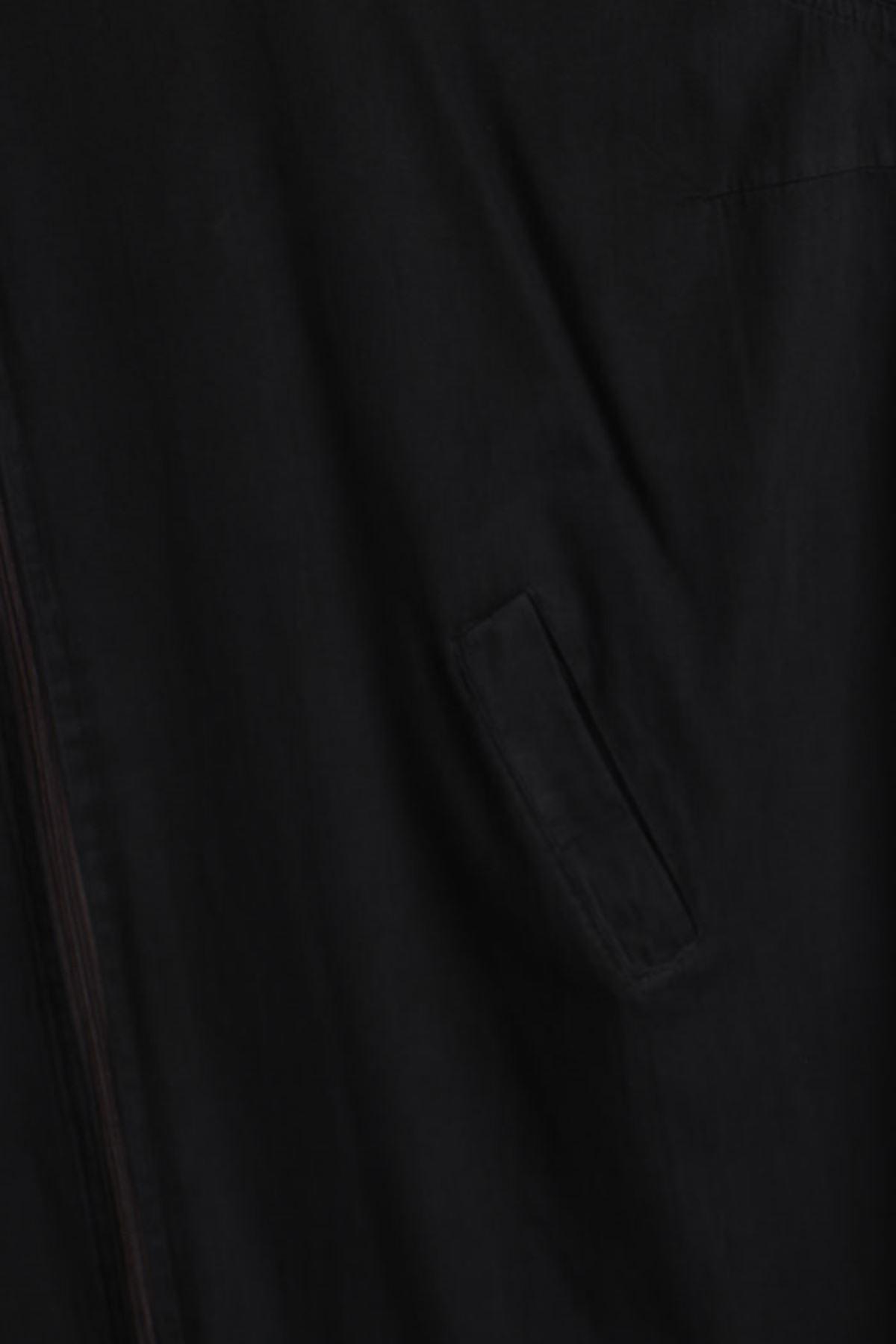 D-6027-1 Büyük Beden Defolu Gizli Patlı Kot Ferace Siyah