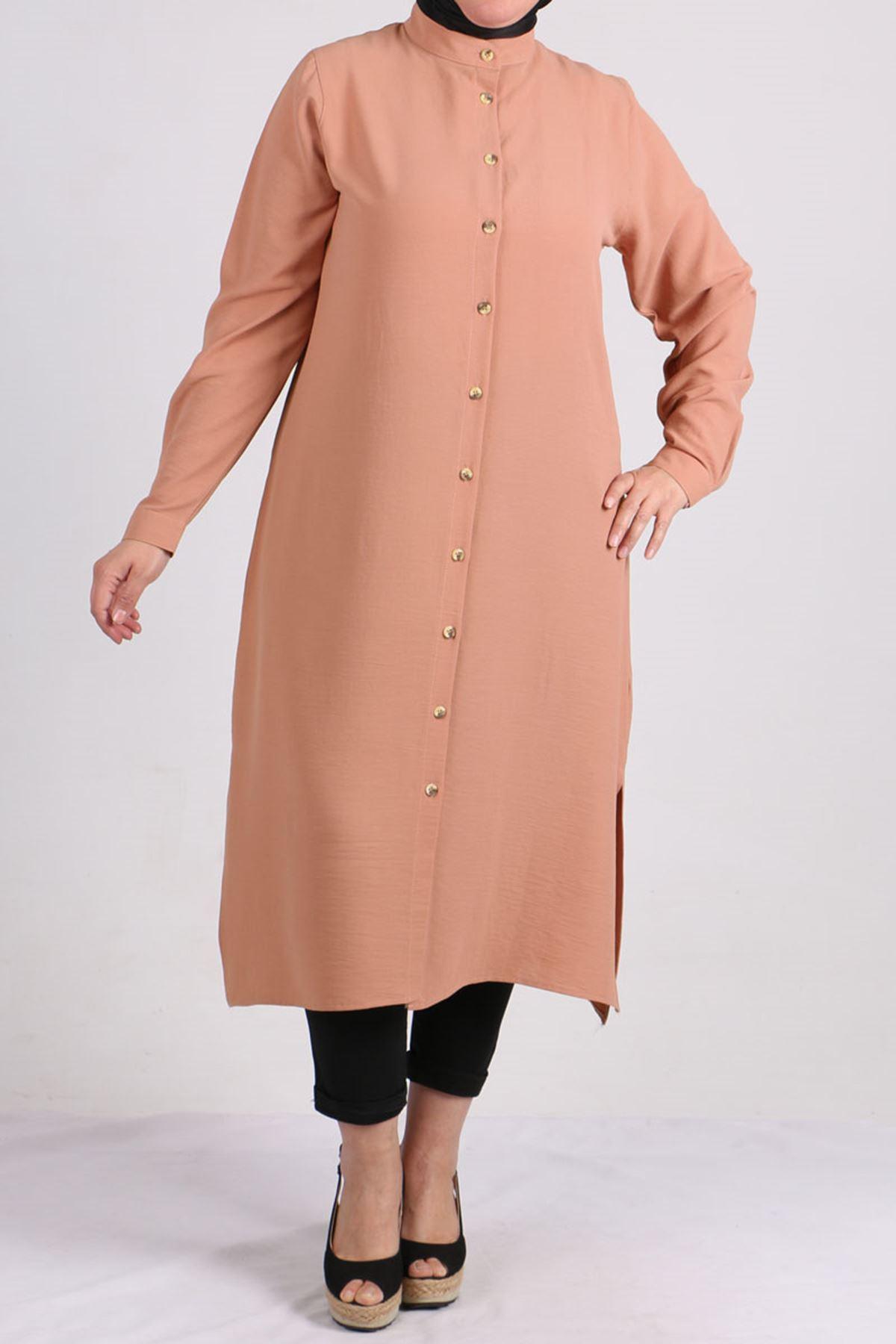 8401 Oversize Buttoned Shirt - Salmon
