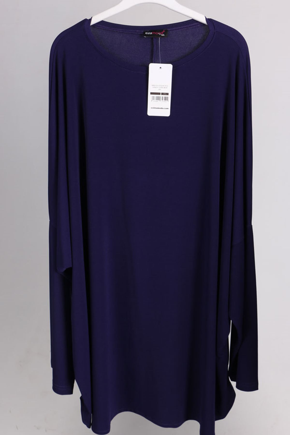 8459 Oversize with Low Sleeve Tunic - Purple