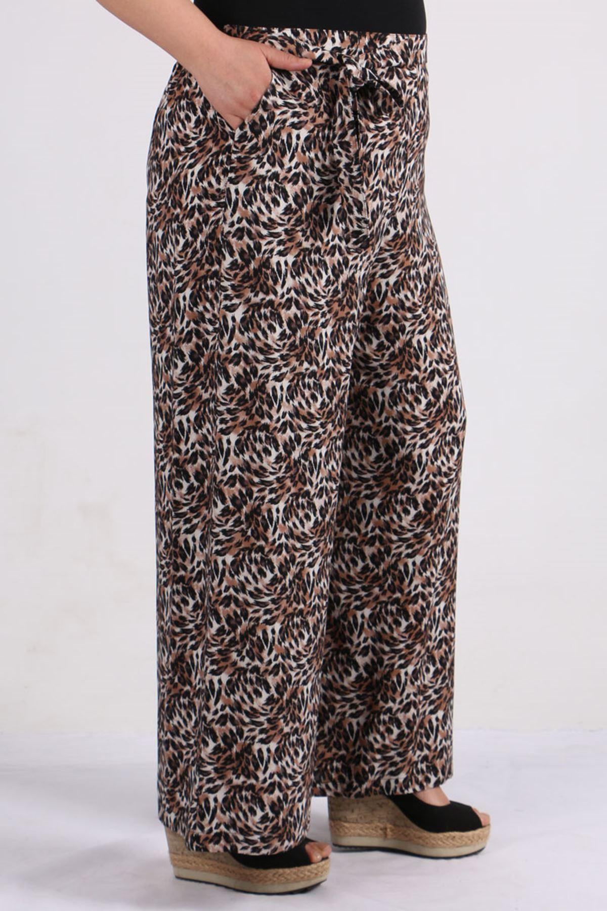9156 Plus Size Pants - Leopard