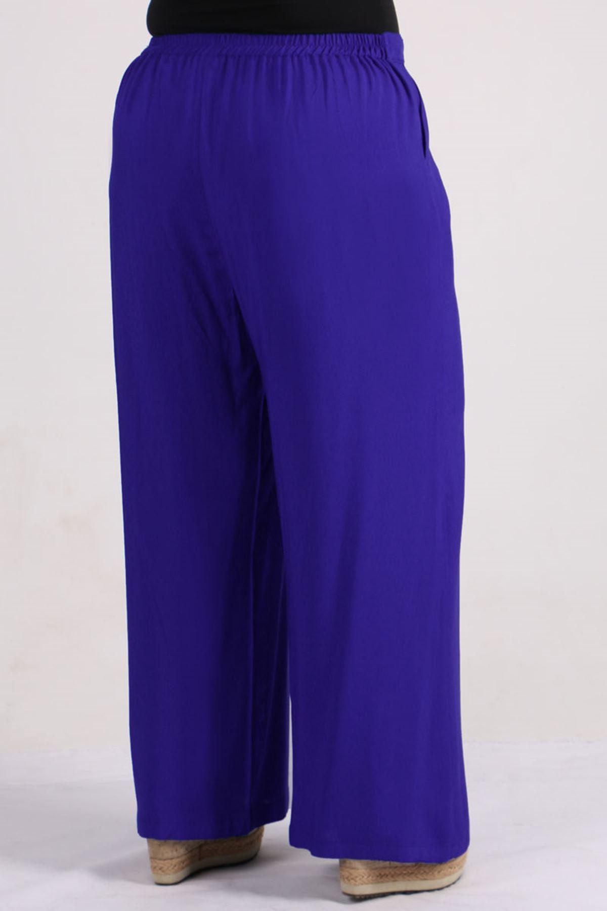 9156 Plus Size Pants - Saxe