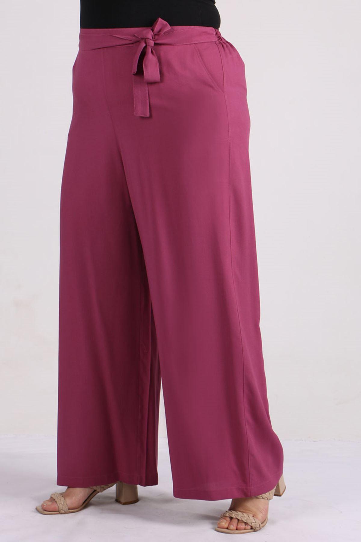 9156 Plus Size Pants - Light Rose