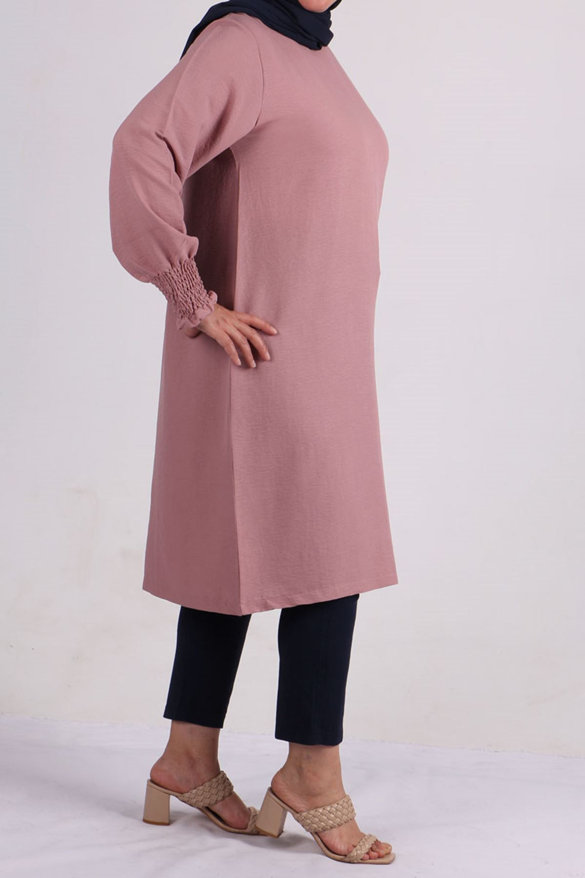 8427 Plus Size Tunic - Rose