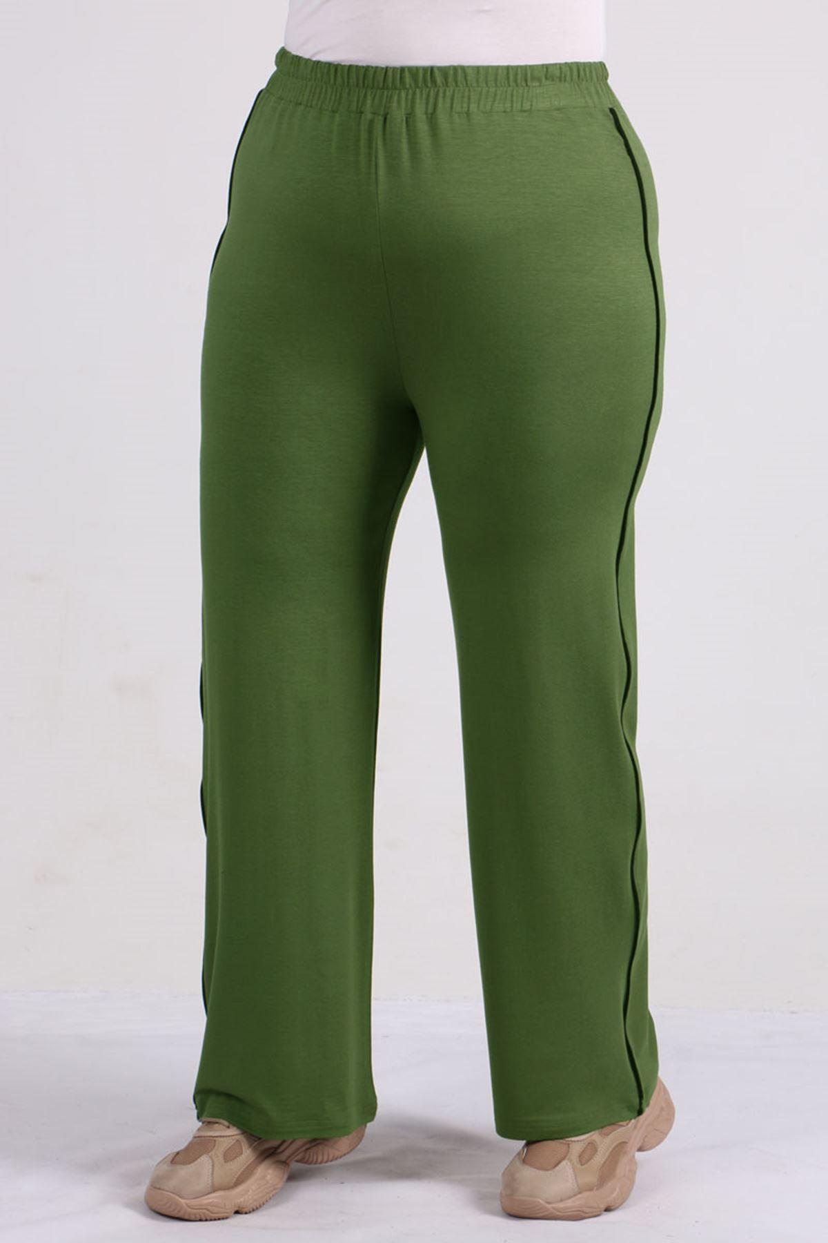 9534 بنطلون رياضي مقاس كبير - أخضر