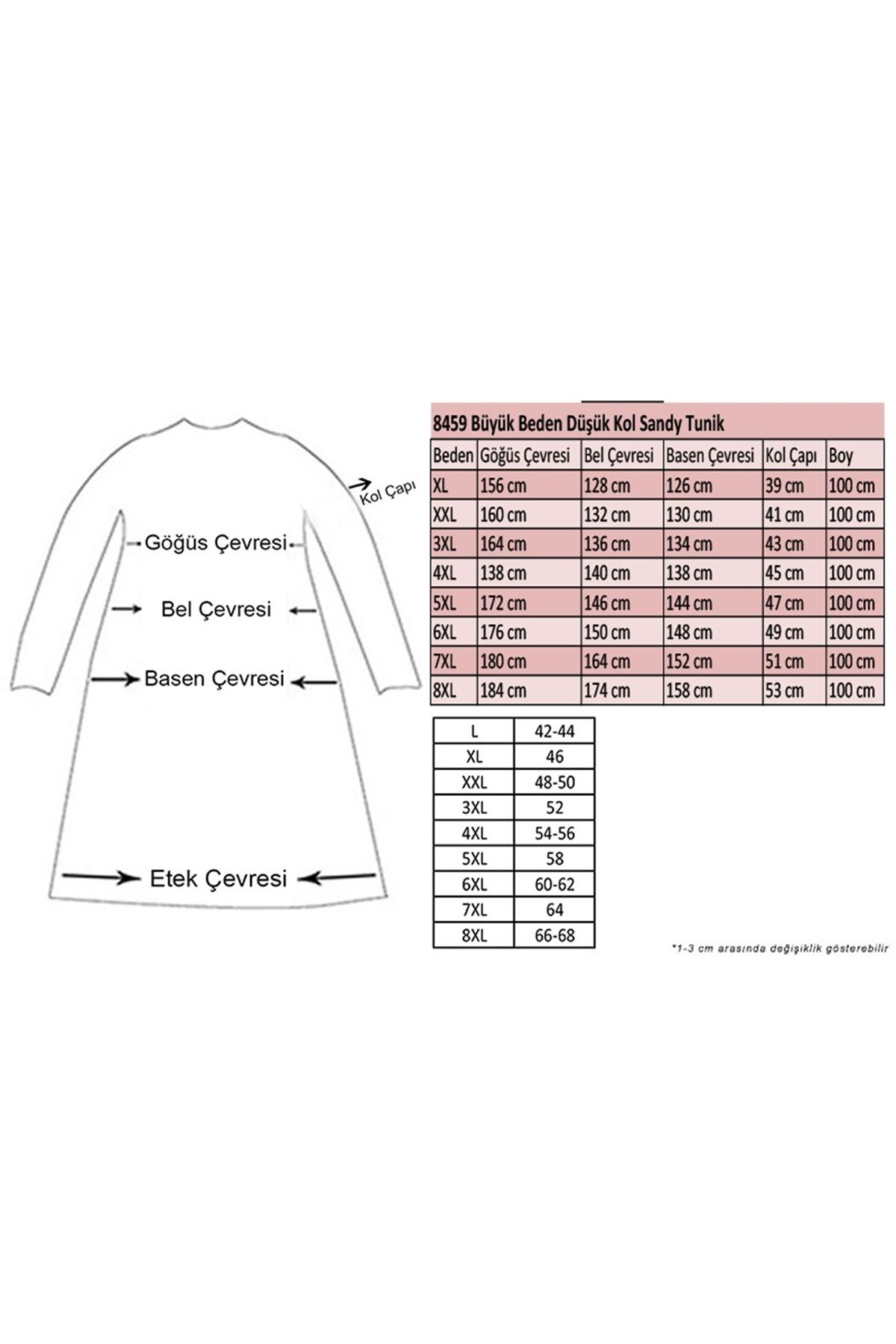 8459 Oversize with Low Sleeve Tunic - Cherry