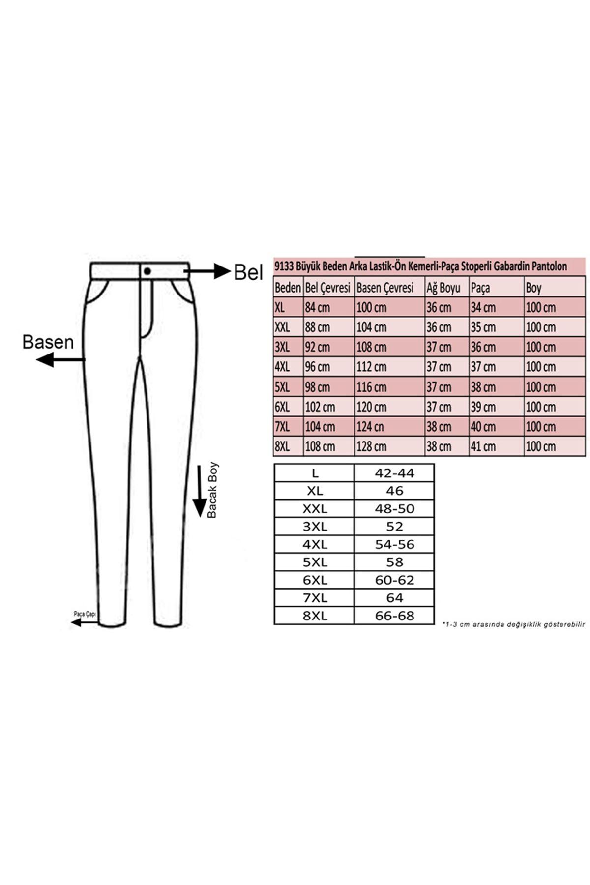 9133 Plus Size Gabardine Pants -Indigo