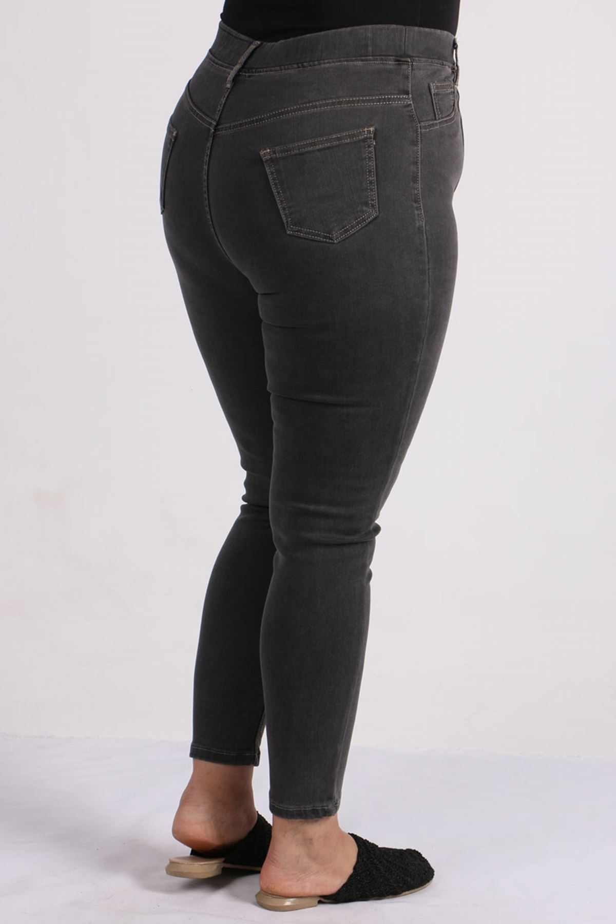 9127 Plus Size Skinny Leg Jeans-Anthracite