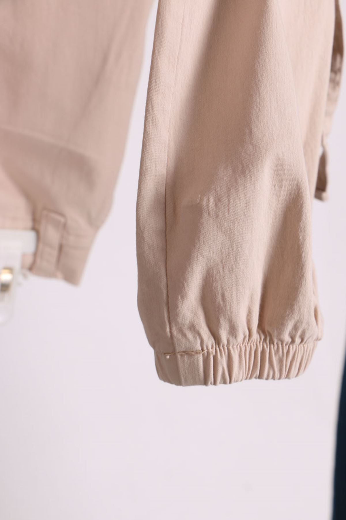 9128 Oversize Cargo Pants with Pockets - Beige