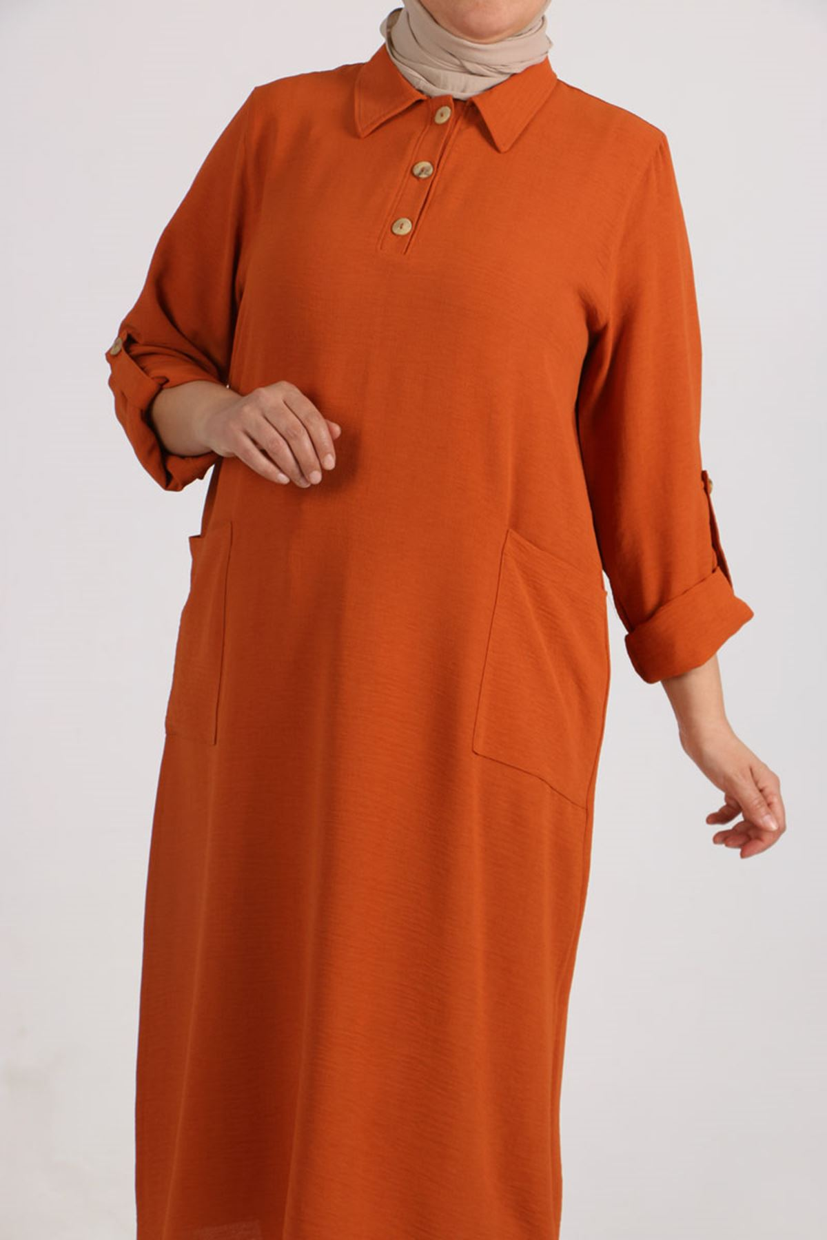 8408 Plus Size  Tunic-  Terra Cotta