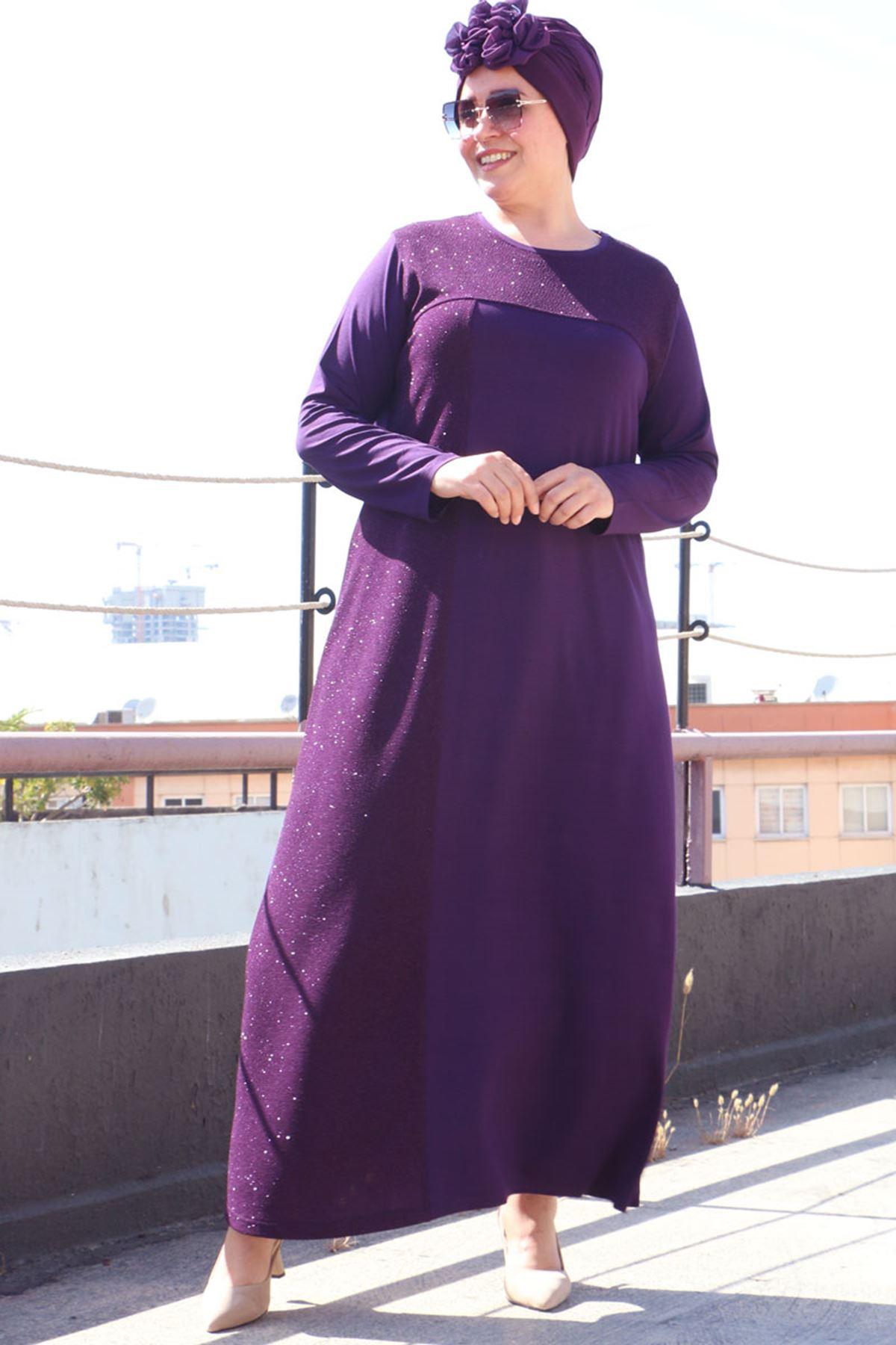 2092 Plus Size Dress - Purple