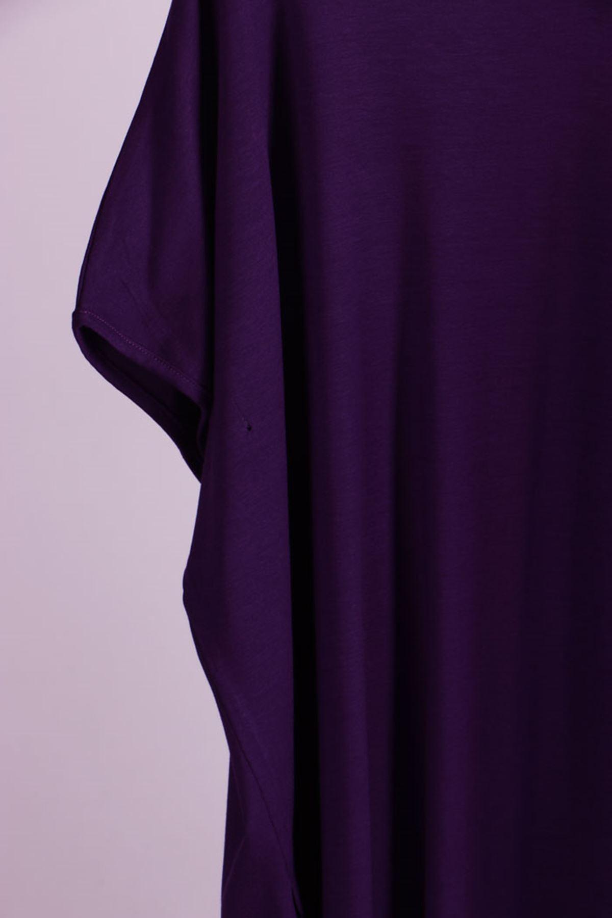 8528 Oversized Basic T-Shirt - Purple