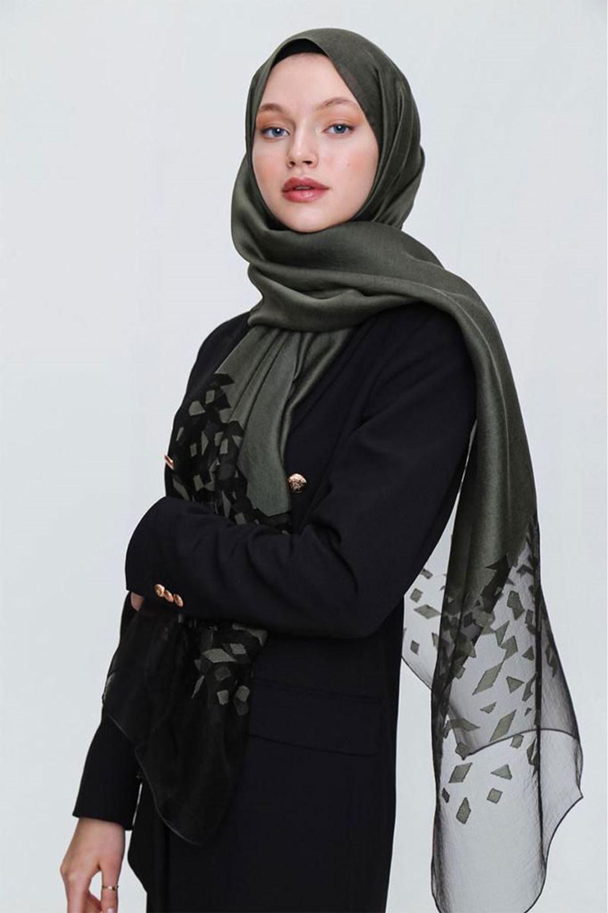 14025 Miray İbiza Shawl - Khaki