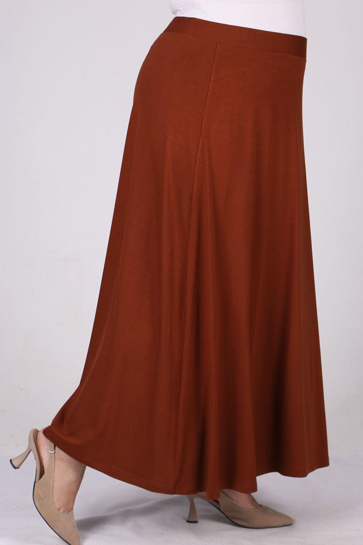 5031 Plus Size Basic Skirt - Terra Cotta