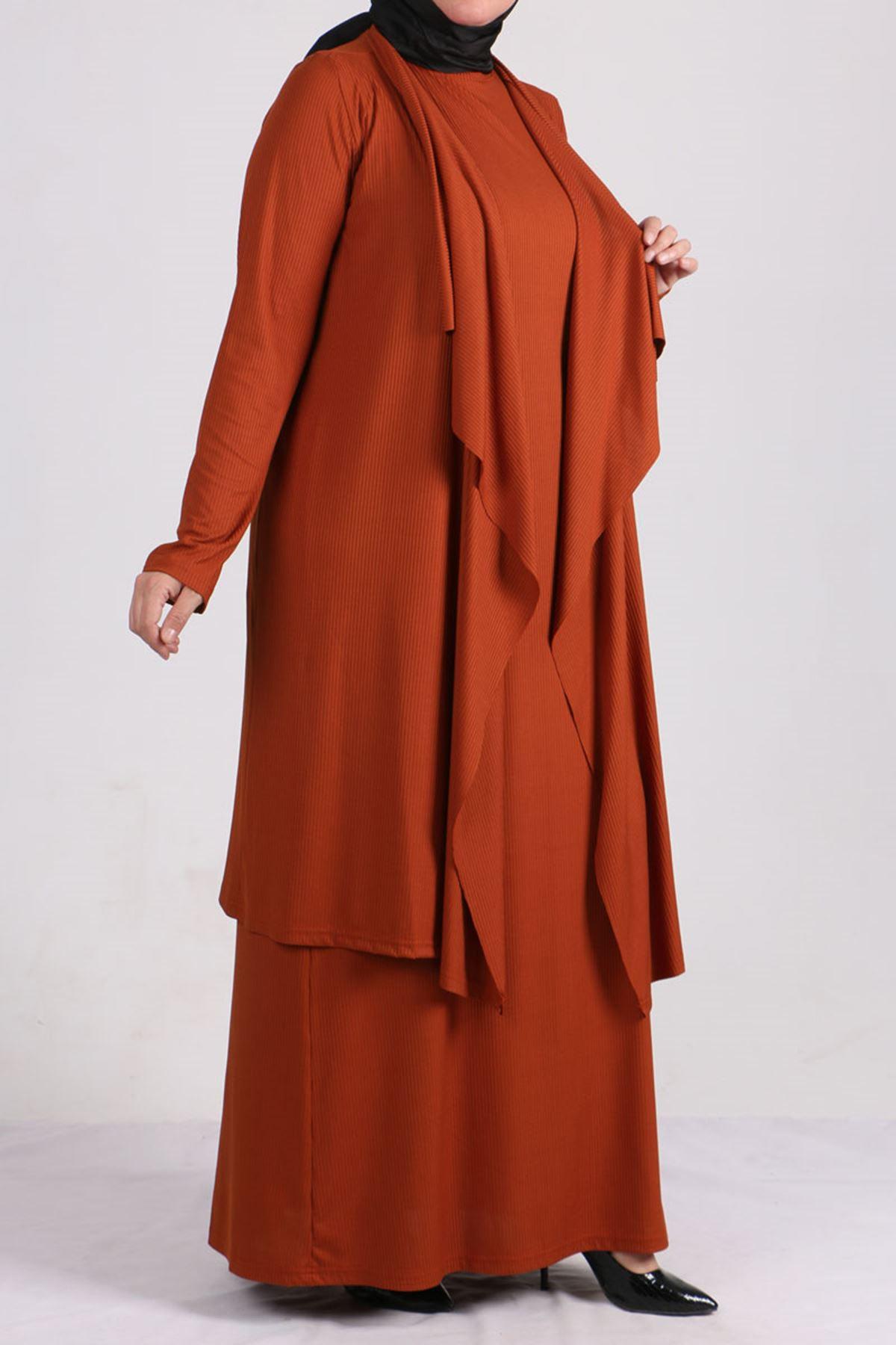 7201 Plus Size Dress-Jacket Suit - Black