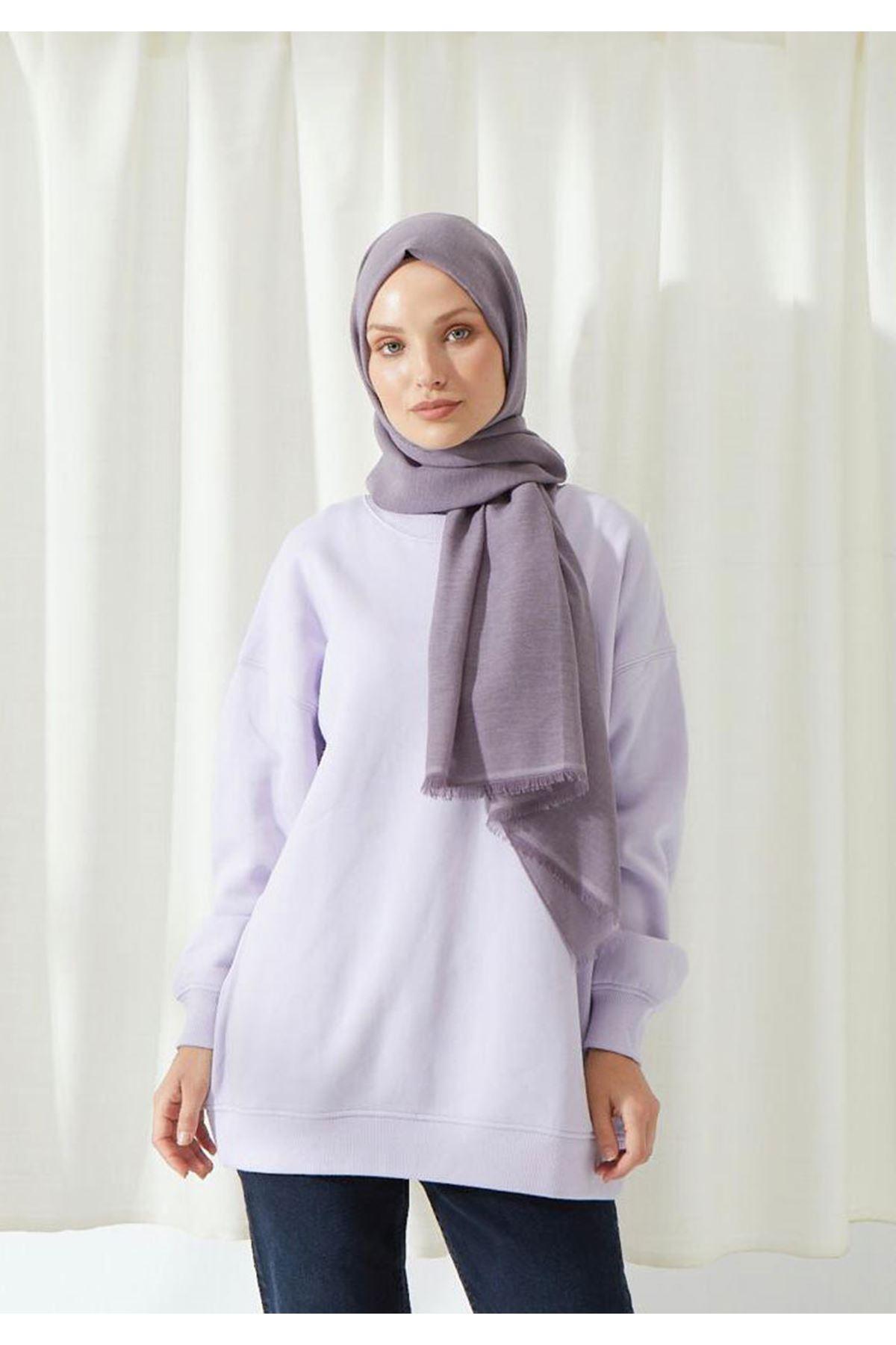 14027 Cotton Shawl - Lİlac