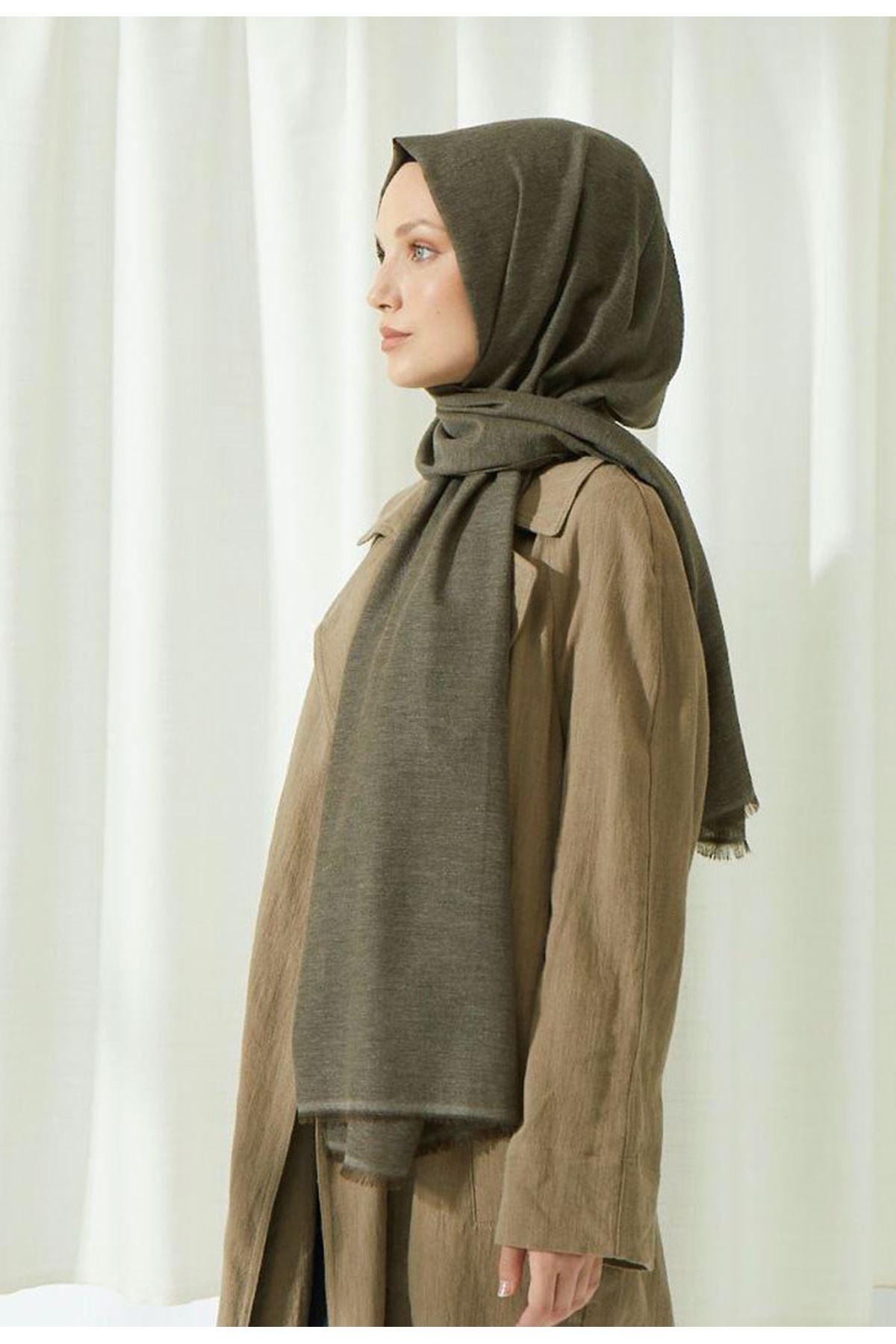 14027 Cotton Shawl - Khaki