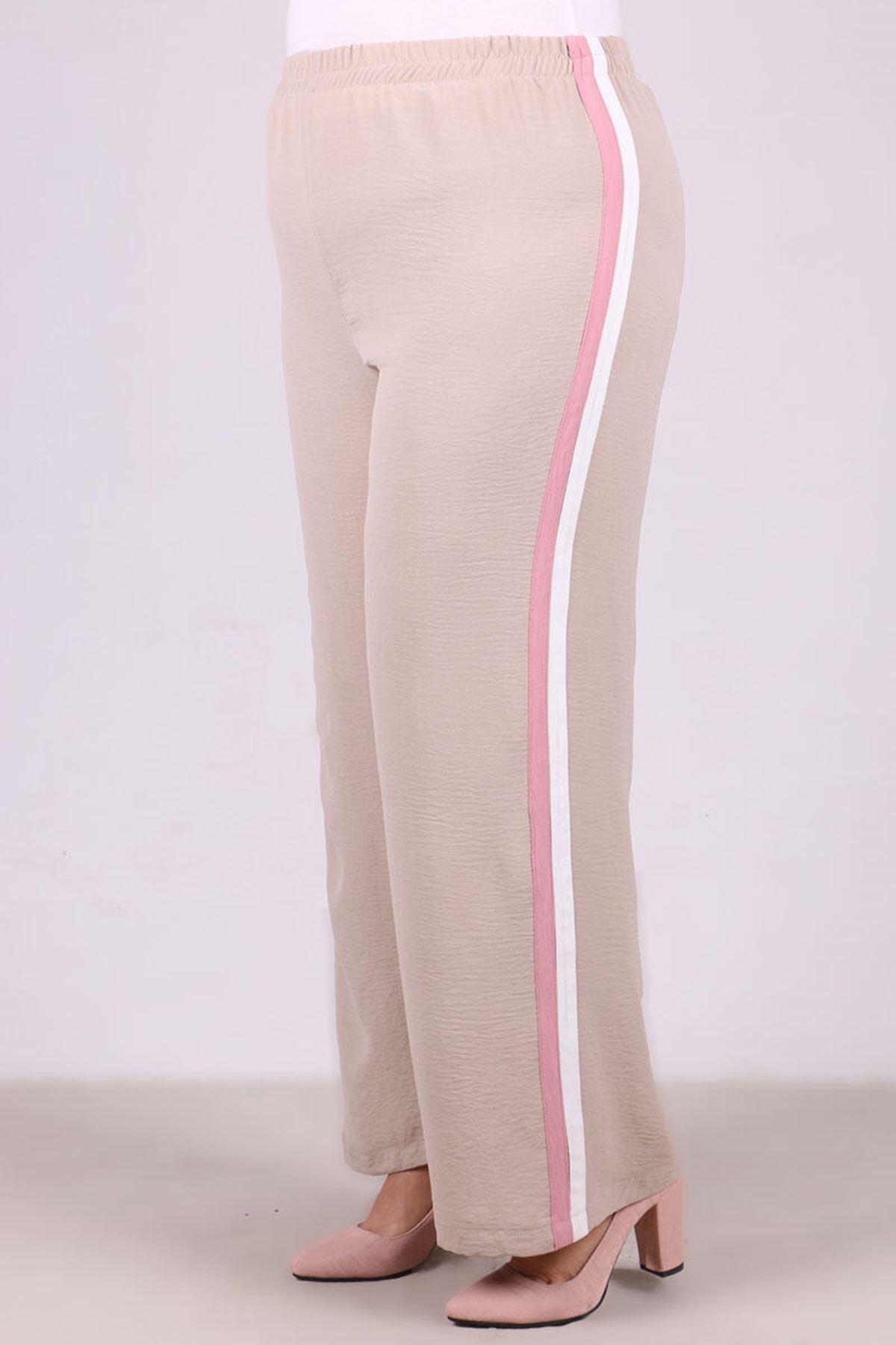 7673 Plus Size Hooded Pants Suit- Powder