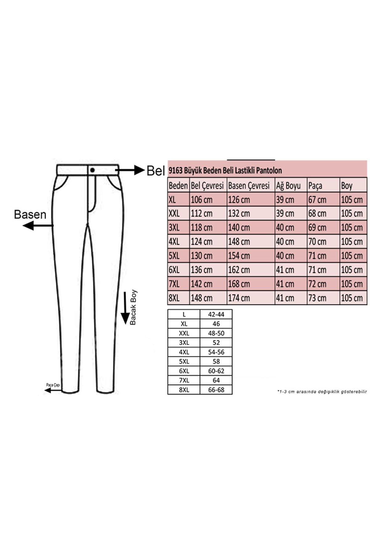 9163 Plus Size Elastic Waist Pants - Terra Cotta