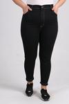 9112 Büyük Beden Dar Paça Kot Pantolon - Siyah