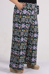 9156 Plus Size  Pants - Naphtha Green Patterned